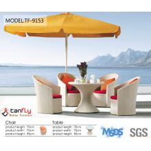 popular designed outdoor rattan furniture aluminium frame wicker sofa with mixed brown PE rattan