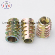Zinc Alloy Nut Furniture Nut Hexagonal Insert Nut