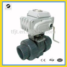 """AC220V CTB010 2 """"Válvula eléctrica del motor de control de PVC para medidores de energía térmica y reutilización del agua de lluvia y reutilización del sistema de aguas grises"""