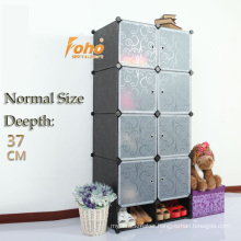 Black Color Normal Size Simple DIY Wardrobe (FH-AL0532-8)