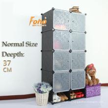 Черный цвет нормальный Размер простой шкаф DIY (FН-AL0532-8)
