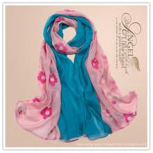Ningbo Lingshang 2015 new Printing assorted color Chevron infinity scarf