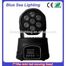 7x10w rgbw 4in1Led Mini éclairage à lumière de tête à tête mobile