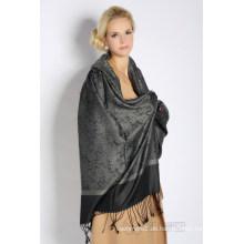 Jacquard-Schal aus Seide und Acryl