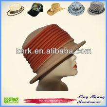 100% lana chaleco sombrero con hilo estilo invierno sombrero