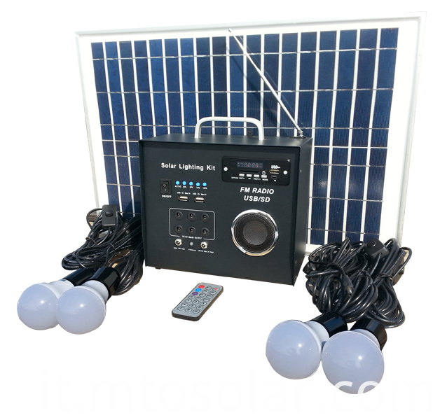 solar home system with radio