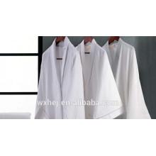 Top vente poly coton kimono peignoir gaufré armure