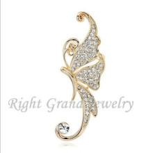 2015 billige Ohr Manschette Crystal Schmetterling Ohr Manschette wickeln Clip Ohrring