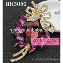 Broches de jóias de cristal de fantasia