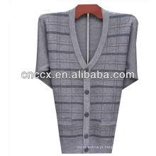 13STC5532 suéter de cashmere com decote em V para homens