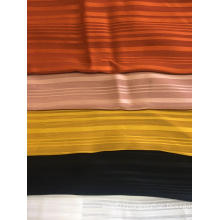 100% Polyester Chiffon Shadow Stripe