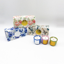 candle set 3*30g paraffin/soy wax scented candle in glass cup in gift box