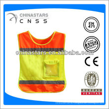 100% polyester colorful safety vest for kids with pockets