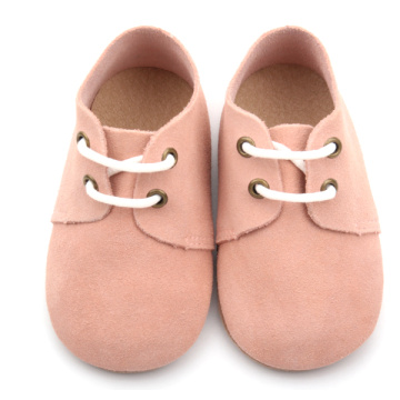 Peach Unisex Baby Shoes Soft Sole Oxford Shoes