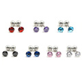 Surgical Steel Gold Plated Cubic Zirconia Tragus Cartilage