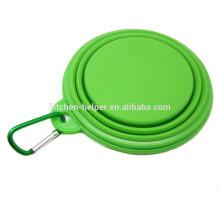 Aprobado por la FDA alimentos de viaje nuevo diseño plegable de silicona Pet Bowls / Dog Feeder Bowl / plegable Pet Dog Cat Bowl
