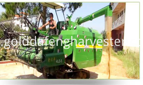 self-propelled rice harvester--Unloading 500
