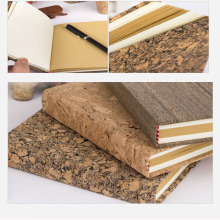 Supply for Leather Notebook Eco Friendly Cork Wood Cover Diary Notebook export to Germany Importers