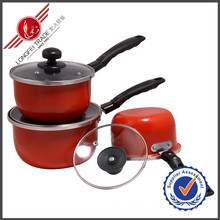 3 PCS Sauce Pan Kitchenware Enamel Cookware Set