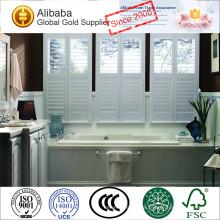 Wasserdichte PVC- oder Fuax-Holz-Plantagen-Fensterladen-Vorhänge mit L-Rahmen und Z-Rahmen