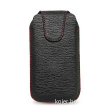 Mobile Phone Pouch, Made of PU Material with Retractable Pull-tab and Hidden Magnetic Flap Closure