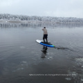 Inflatable sup stand up paddle board drop stitch material with paddles
