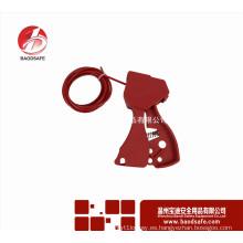 Wenzhou BAODI BDS-L8601Etiquetado de bloqueo Bloqueo de seguridad rojo Bloqueo de cable ajustable