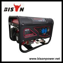 Bison Chine Zhejiang 3KW 6.5HP Portable Gasoline Engine Générateur de système d'électricité