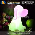 Hund geformt tierisches Nachtlicht für Tabelle Nacht Lampe Farbwechsel Dekoration Kinderzimmer