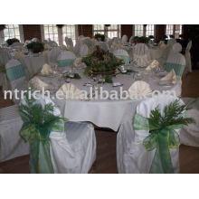 Elegante capa de poliéster cadeira & toalha de mesa
