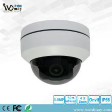 5.0MP 4X Zoom IR Kubah IP PTZ Camera
