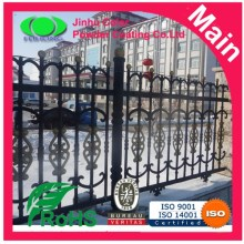 Electrostatic spray fence powder coating