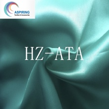 100% Polyester 113GSM Weave Bright Satin Fabric