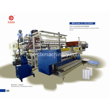 Berühmte LLDPE Plastikpalette Wrapping Film Machinery