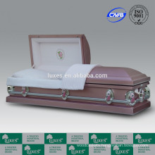 LUXES US Style 18ga Colorful Metal Casket From China Supplier