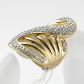 Fashion vintage rhinestone crystal gold plated love Rings jewelry wholesale and retail