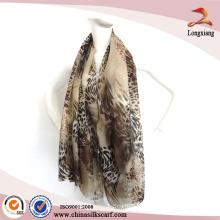 Nova moda atacado Leopardo impressão lenço xale
