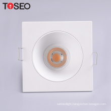 Anti glare led downlight round die casting recessed lamp holder fitting