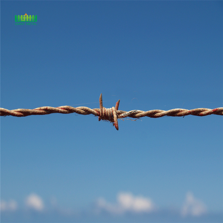 Putting up barbed wire fence China Manufacturer