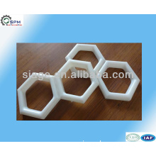 customized ABS injection plastic hexagon shape parts mould