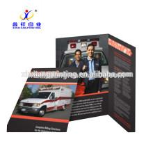 Impression adaptée aux besoins du client! Impression pliable de catalogue de brochure de publicité faite sur commande de papier de fantaisie