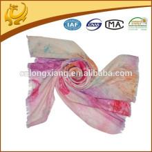 Nouvelle femme Pashmina cachemire comme imprimé couleur claire laine longue sscarf