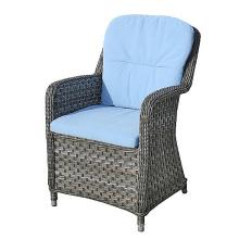Resina do pátio mobiliário jardim ao ar livre braço cadeira vime do Rattan