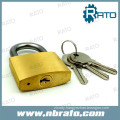 Heavy type diamond sliod brass hardened padlock