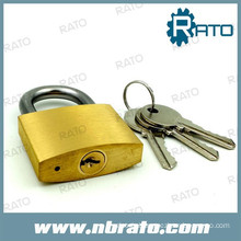 Heavy type diamond sliod brass hardened padlock