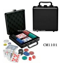 Luxus abgerundete Ecke 100 Poker Chip Aluminiumgehäuse