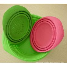OEM Custom Molded FDA Food Grade Silicone Foldable Bowl