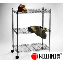 Ajustable Cromo Metal Wire Rolling Almacenamiento Rack-Full Tamaños disponibles
