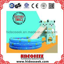 Glissière en plastique d'enfants d'intérieur de 1-6 ans avec la fosse de boule