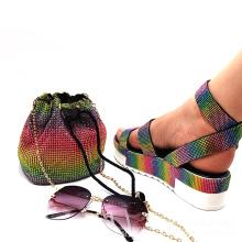 2021 Fashion Shoes Women Popular Summer Sandals Colorful Rhinestone Women's Sandals With Platform diamond sandals